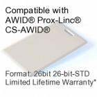 Clamshell Proximity Card - AWID® 26bit