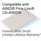 Clamshell Proximity Card - AWID® 34bit