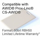 Clamshell Proximity Card - AWID® RBH® 50bit