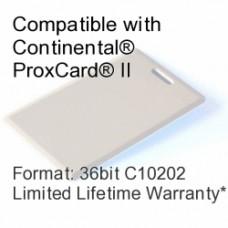 Clamshell Proximity Card - 36bit C10202