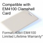 Clamshell Proximity Card - EM4100 Compatible with 8 bit Facility Code