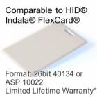 Clamshell Proximity Card - 26bit 40134/ASP10022