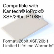 Clamshell Proximity Card - Kantech® ioProx® XSF/26bit P10SHL Compatible