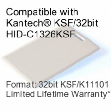 Clamshell Proximity Card - Kantech® KSF/32bit HID-C1326KSF Compatible