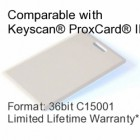 Clamshell Proximity Card - Keyscan® Compatible, 36bit C15001