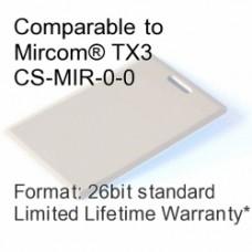 Clamshell Proximity Card - Mircom® TX3 CS-MIR-0-0 Compatible