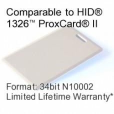 Clamshell Proximity Card - 34bit N10002