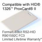 Clamshell Proximity Card - RS2® Tech Compatible, 33bit R901592C