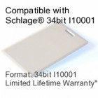Clamshell Proximity Card - Schlage® Compatible, 34bit I10001