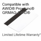 Printable Composite Proximity Card with Magnetic Stripe - DSX® 33bit for AWID®