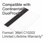 Printable Composite Proximity Card with Magnetic Stripe - 36bit C10202
