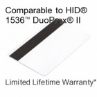 Printable Composite Proximity Card with Magnetic Stripe - DSX® 33bit D10202