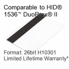 Printable Composite Proximity Card with Magnetic Stripe - 26bit H10301