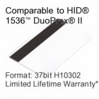 Printable Composite Proximity Card with Magnetic Stripe - 37bit H10302