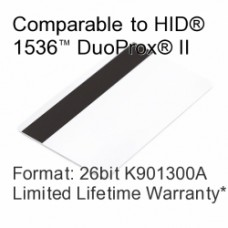Printable Composite Proximity Card with Magnetic Stripe - 26bit K901300A