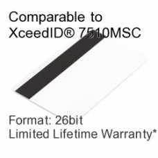 Printable Composite Proximity Card with Magnetic Stripe - XceedID® 7510MSC Compatible