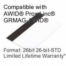 Printable Proximity Card with Magnetic Stripe - AWID® 26bit