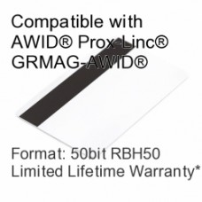 Printable Proximity Card with Magnetic Stripe - AWID® RBH® 50bit