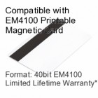 Printable Proximity Card with Magnetic Stripe - EM4100 Compatible