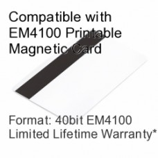 Printable Proximity Card with Magnetic Stripe - EM4100 Compatible with 8 bit Facility Code