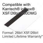 Printable Proximity Card with Magnetic Stripe - Kantech® ioProx® XSF/26bit P30DMG Compatible