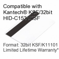 Printable Proximity Card with Magnetic Stripe - Kantech® KSF/32bit HID-C1536KSF Compatible