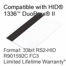 Printable Proximity Card with Magnetic Stripe - RS2® Tech Compatible, 33bit R901592C