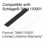 Printable Proximity Card with Magnetic Stripe - Schlage® Compatible, 34bit I10001