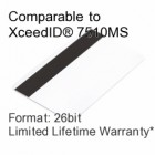 Printable Proximity Card with Magnetic Stripe - XceedID® 7510MS Compatible