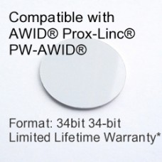 Peel and Stick Proximity Tag - AWID® 34bit