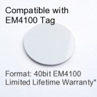 Peel and Stick Proximity Tag - EM4100 Compatible with 8 bit Facility Code