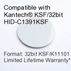 Peel and Stick Proximity Tag - Kantech® KSF/32bit HID-C1391KSF Compatible