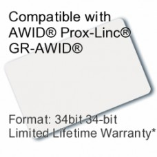 Printable Composite Proximity Card - AWID® 34bit