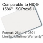 Printable Composite Proximity Card - 26bit H10301