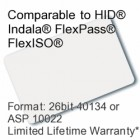 Printable Composite Proximity Card - 26bit 40134/ASP10022