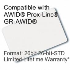 Printable Proximity Card - AWID® 26bit
