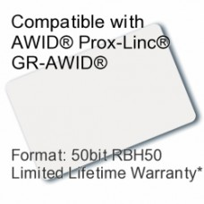 Printable Composite Proximity Card - AWID® RBH® 50bit