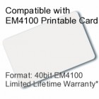Printable Proximity Card - EM4100 Compatible with 8 bit Facility Code