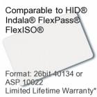 Printable Proximity Card - 26bit 40134/ASP10022