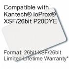 Printable Proximity Card - Kantech® ioProx® XSF/26bit P20DYE Compatible