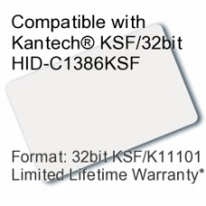 Printable Proximity Card - Kantech® KSF/32bit HID-C1386KSF Compatible