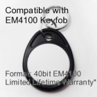 Proximity Keyfob - EM4100 Compatible with 8 bit Facility Code